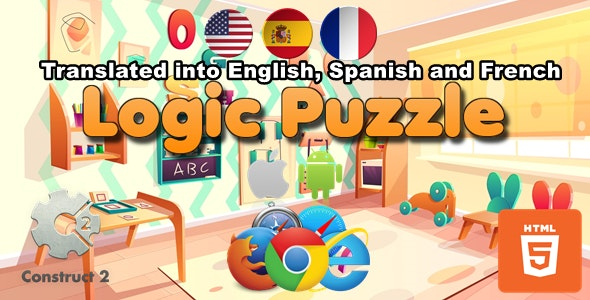 Logic Puzzle for Kids - HTML5 Games (.Capx) - CodeCanyon Item for Sale