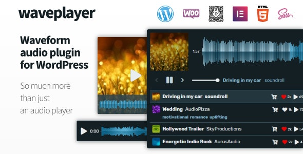 WavePlayer - Waveform Audio Player for WordPress and WooCommerce - CodeCanyon Item for Sale