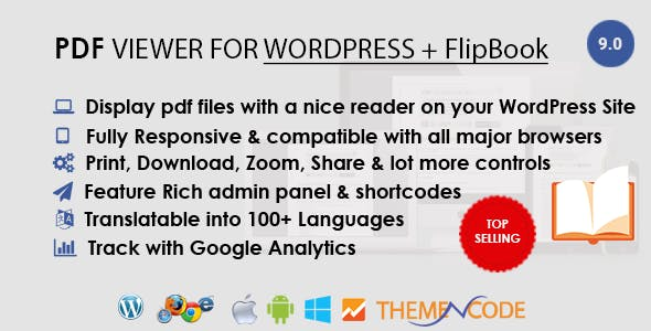 PDF viewer for WordPress + FlipBook