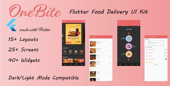 OneBite - Flutter Food Delivery UI Kit