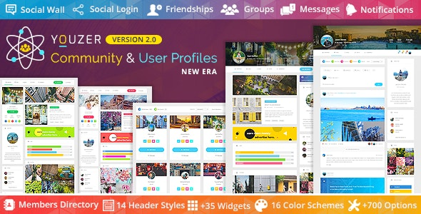 Youzer - Buddypress Community & Wordpress User Profile Plugin - CodeCanyon Item for Sale