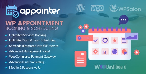 WP Appointment Booking & Scheduling with Woocommerce - CodeCanyon Item for Sale