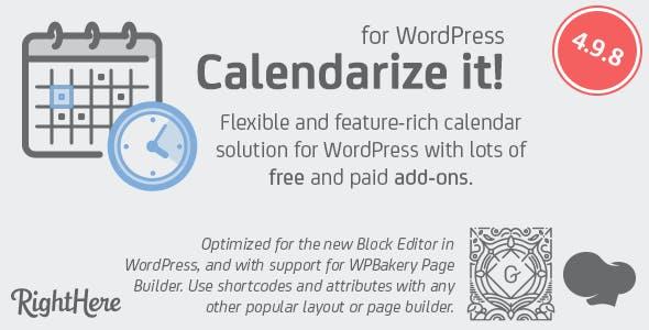 Calendarize it! for WordPress