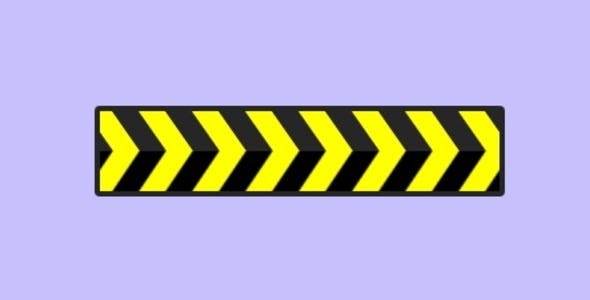 Yellow And Black Arrow Sign Loading Animation