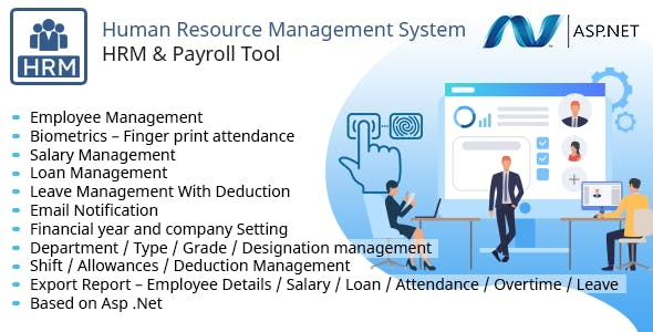 Human Resource Management System - HRM, Payroll, Employee Manage, Salary, Loan, Biometrics Finger