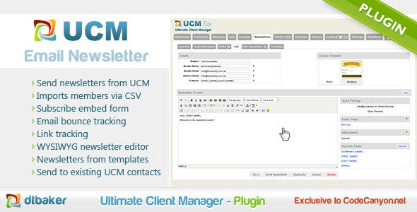 Newsletter Plugin - CodeCanyon Item for Sale