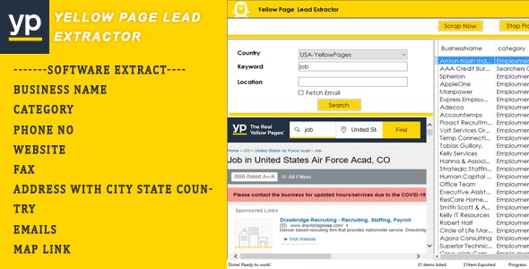 Yellow Page Lead Extractor