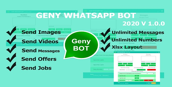 Geny Whatsapp Bot - Send Images/Videos And More... - CodeCanyon Item for Sale