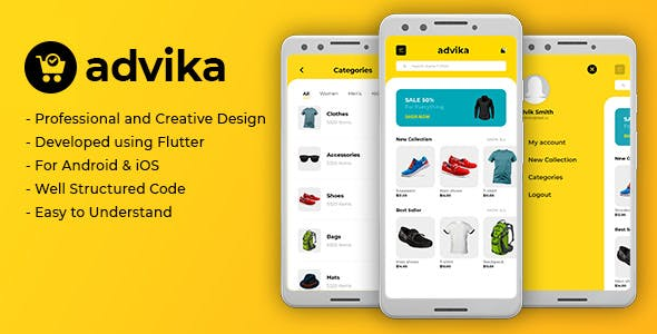 Advika - Flutter Ecommerce App UI Template