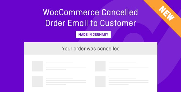 WooCommerce Cancelled Order Email to Customer - CodeCanyon Item for Sale
