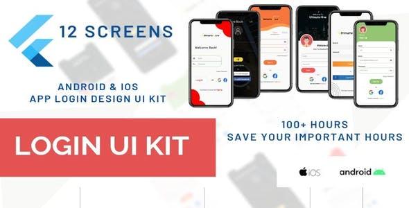 Flutter Login & Registration UI KIT 12 Screens