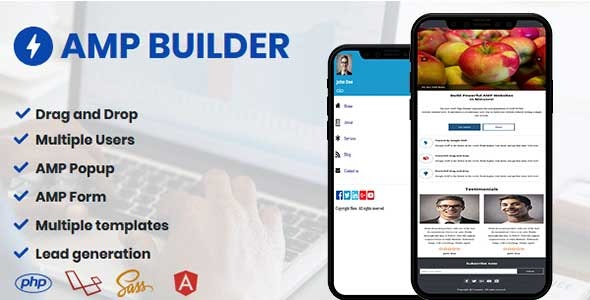 AMP Builder - AMP Landing Page Builder - CodeCanyon Item for Sale