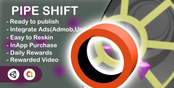 Pipe Shift - 3D Game(Unity Game+Admob+iOS+Android)