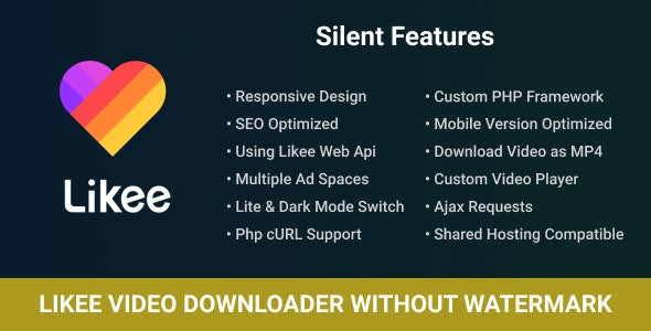 Likee Video Downloader Without Watermark With Ajax By Codespikex Codecanyon