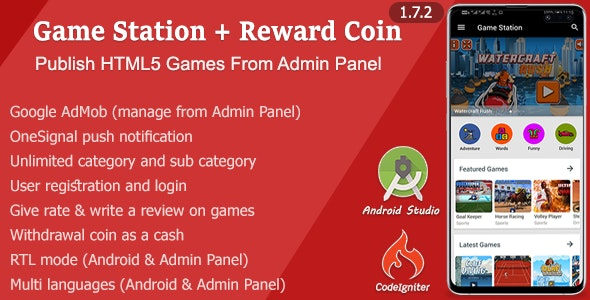 Game Station + Reward Coin - CodeCanyon Item for Sale