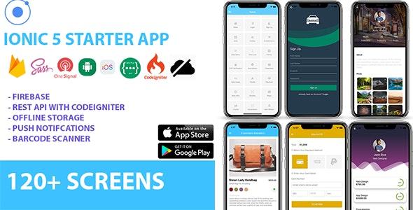Ionic 5 / Angular 5 UI Theme / Template App – Multipurpose Starter App