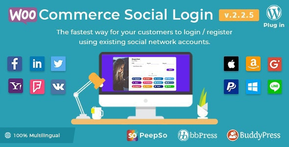 WooCommerce Social Login - WordPress Plugin - CodeCanyon Item for Sale