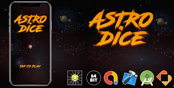 Astrodices Android iOS Buildbox Game Template with Admob Ads Integrated