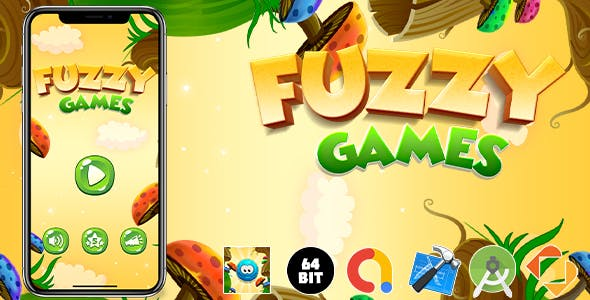 Fuzzy Games Android iOS Buildbox Game Template with Admob Ads Integrated
