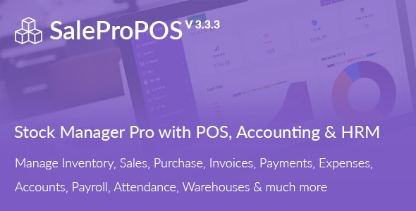 SalePro - Inventory Management System with POS, HRM, Accounting - CodeCanyon Item for Sale