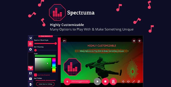 Spectruma - Audio Visualizer Maker