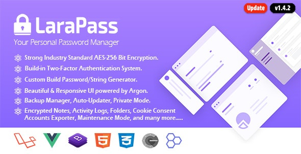 LaraPass v1 - Your Personal Password Manager - CodeCanyon Item for Sale