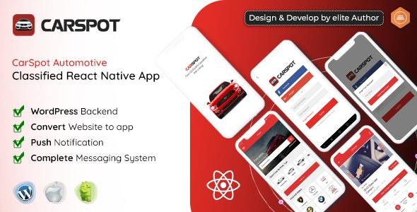 CarSpot – Dealership Classified React Native App - CodeCanyon Item for Sale