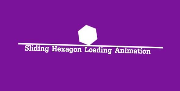 Sliding Hexagon Loading Animation