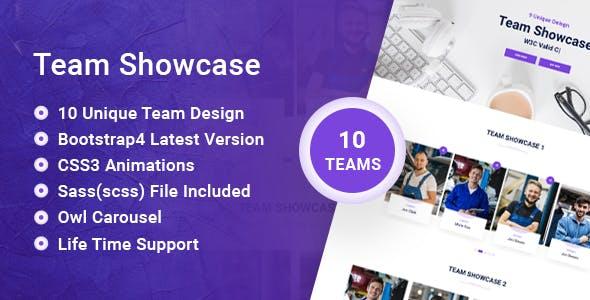 VS Team - Team Showcase HTML