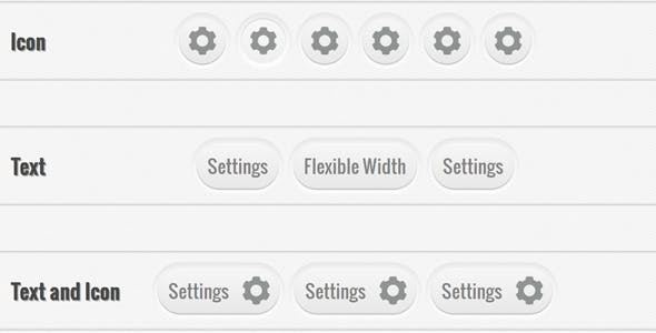 Pressable, Rounded Buttons