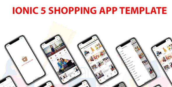 ionic 5 full shopping app template