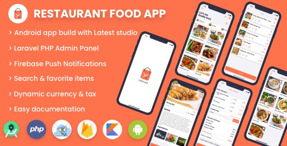 Single restaurant food ordering app - Android App with Admin Panel