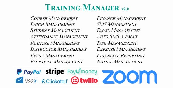 Training Manager - Ultimate Training / Coaching / Learning Center Management System