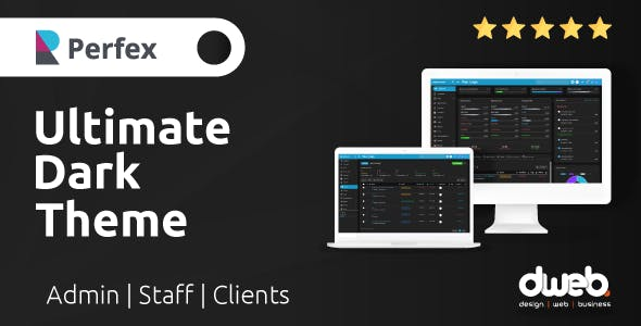 Ultimate Dark Theme - Perfex CRM
