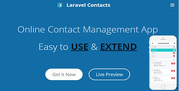 Laravel Contact – Online Contact Management App - CodeCanyon Item for Sale