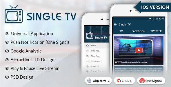 iOS Single TV - CodeCanyon Item for Sale