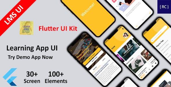 Flutter LMS App UI Kit - Learning App UI in Flutter - Course App UI Template in Flutter