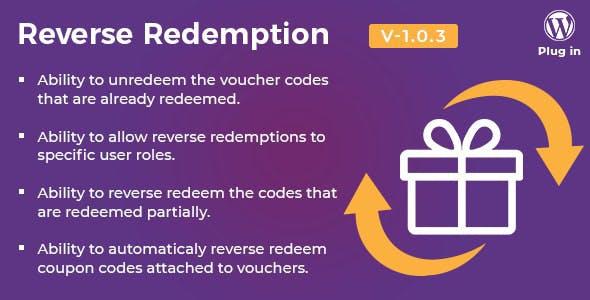 WooCommerce PDF Vouchers - Reverse Redemption add-on