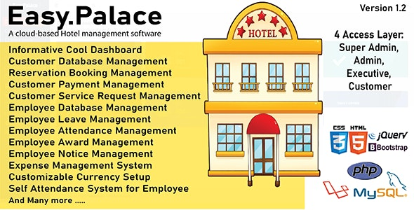 EasyPalace - Hotel Management System - CodeCanyon Item for Sale