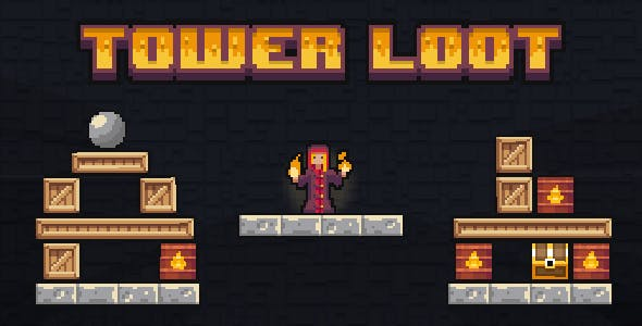 Tower Loot - HTML5 Game (Construct 2)
