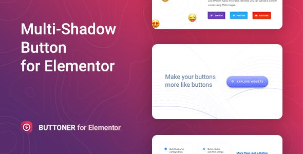 Buttoner – Multi-shadow Button for Elementor