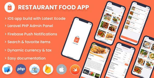 Single restaurant food ordering app - iOS App with Admin Panel
