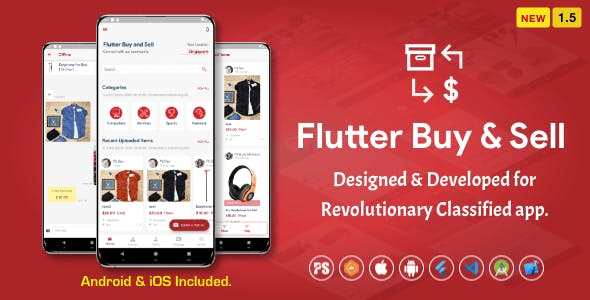 Flutter BuySell For iOS Android ( Olx, Mercari, Offerup, Carousell, Buy Sell, Classified ) ( 1.5 )