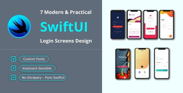 7 Login Screens in SwiftUI - Modern & Practical
