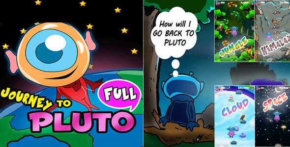 Journey To Pluto Unity 3D Platform Jumping Game Source Code - CodeCanyon Item for Sale