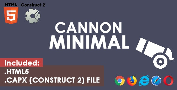 Cannon Minimal - HTML5 Game - CodeCanyon Item for Sale