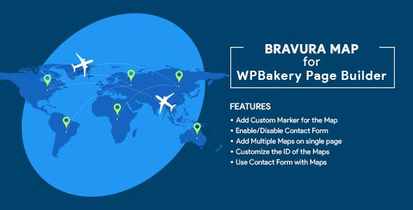 Bravura Map for WPBakery Page Builder