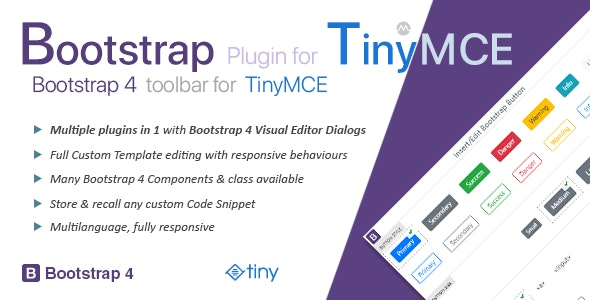 Bootstrap Plugin for TinyMCE - CodeCanyon Item for Sale