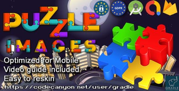 Puzzle Images (Admob + GDPR + Android Studio)
