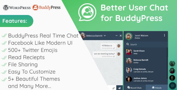 Better User Chat for BuddyPress